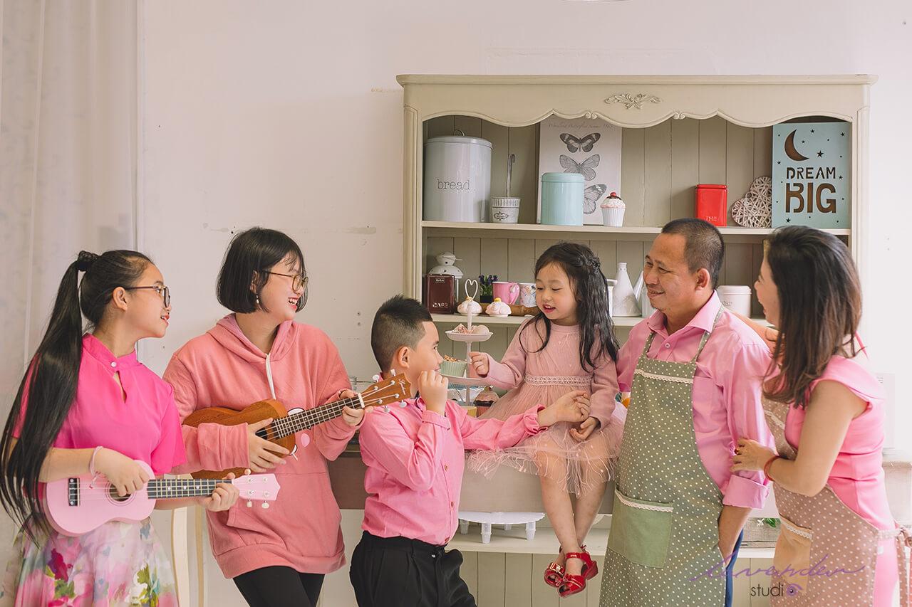 chụp ảnh gia đình Tết cùng studio Lavender TPHCM