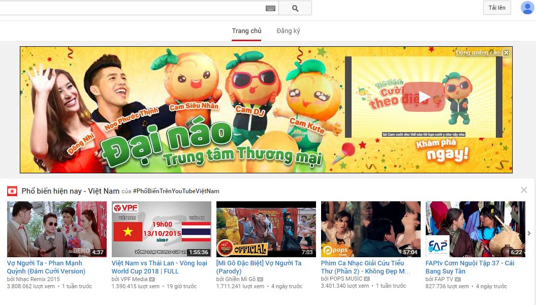 phim quang cao tren youtube 1